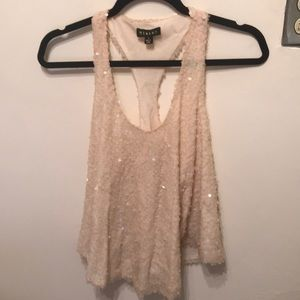 NYE TOP 🥂 Urban Outfitters Sequin Nude Tank Small